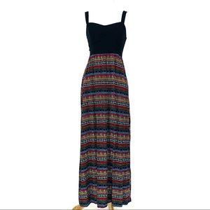Miss Long Maxi Dress Adjustable Straps Black